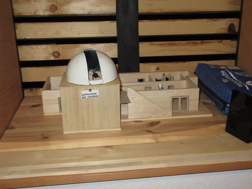 Architektenmodell der Sternwarte